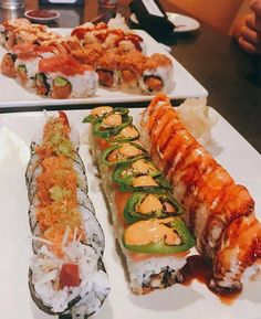 Sushi Recipes, Asian Recipes, Snack Recipes, Food Platters, Food Dishes, Beignet Recipe, Sushi Party, Cafe Food, Aesthetic Food