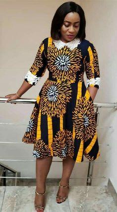 Latest Ankara Dress Styles - Loud In Naija African Fashion Ankara, Latest African Fashion Dresses, African Print Fashion, Africa Fashion, African Style Clothing, African Prints, Short African Dresses, Ankara Short Gown Styles, Short Gowns