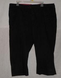 Womens Black Capri Pants Plus 18 M Riders by Lee #Capri #CaprisCropped