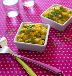 Tartare avocat mangue sauce fruits de la passion Cooking Time, Cantaloupe, Macaroni And Cheese, Fruit, Passion, Healthy, Ethnic Recipes, Desserts, Food