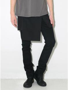 split panel skirt maybe order do over skinny jean for psychic tv