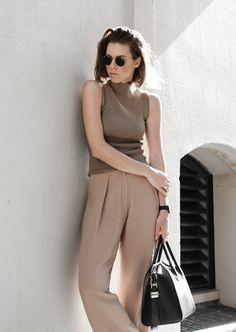 modern legacy, fasion blog, street style, neutral, tan, SABA, sneakers, Givenchy Antigona, wide leg pants, round Ray Bans (1 of 1) @sommerswim