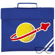 Blue SPACESHIP!!  Book Bag::: Designed in the UK by Mini Geek Boutique