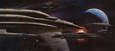 Ralph McQuarrie: Return of the Jedi 18 by Eric Carl, via Flickr