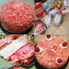 Strawberry shortcake cheesecake!!!