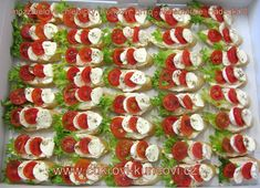 Caprese Salad, Ham, Catering, Lunch, Vegetables, Cupcake, Toast, Recipes, Meals