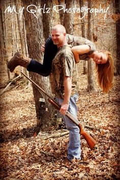 The hunt is over engagement picture:) That's WAY cuter than the other ones! Yes!