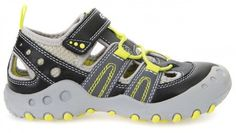Geox Boys Sandals Geox Kyle Grey with black and lime trims The Geox Kyle is  a great looking sporty boys closed toe sandal from Geox.
