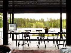 Dining area with views to the nature