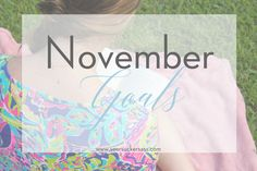 Personal and Blogging goals for the month of November