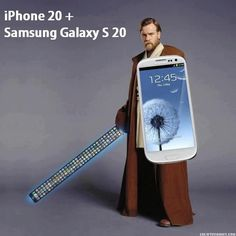 IPHONE 20 + SAMSUNG GALAXY S 20 LIGHTSABER AND SHIELD