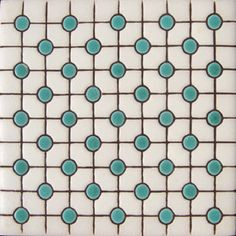 Country Green Points Relief Tile