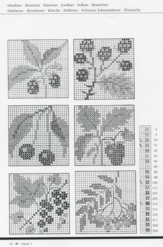 Gallery.ru / Фото #15 - Gerda Bengtsson Classic 1 - Mosca Cross Stitch Fruit, Cross Stitch Tree, Cross Stitch Flowers, Cross Stitch Embroidery, Cross Stitch Patterns, Crochet Patterns, Blackwork, Pattern Books, Needlepoint