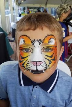 Face Painting Designs, Paint Designs, Tiger Face Paints, Carnival, Mardi Gras, Carnival Holiday
