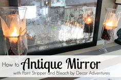 This DIY project shows you how to antique a mirror using paint stripper and bleach. It's an easy and inexpensive way to customize, antique or distress a mirror.