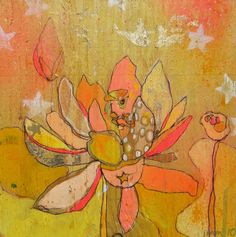 Lotus Gold Canvas Print by Jennifer Mercede by jennifermercede, $139.00