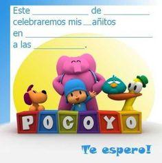 Invitaciones de Pocoyó para imprimir | Fiesta101