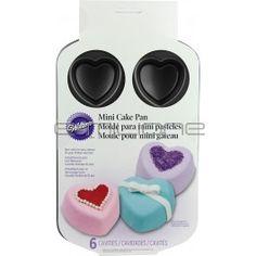 Stampo con 6 cavità a forma di cuore per Mini Pan Cake
