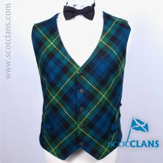 Gordon Tartan Custom Made Waistcoat. Free Worldwide Shipping Available
