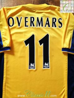 0f6b27dba 1999 00 Arsenal Away Premier League Football Shirt Overmars  11
