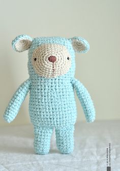 RESERVED FOR JULIE Boris the Bear Crocheted Plushie par eveluche