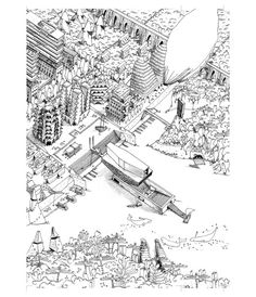 Architectural Drawings Courtesy of Guillaume Ramillien Architecture - We believe good projects should be able to express and explain themselves. Architectural representation plays a fundamental role in how a project is. Architecture Drawings, Amazing Architecture, Architecture Design, Colorful Drawings, Cool Drawings, Drawing Techniques, Drawing Tips, Drawing Ideas, Architect Drawing