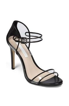 Transparent details with black piping - hot shoes!
