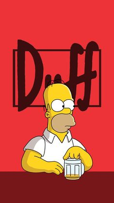 The Simpsons Homer Simpson Simpson Wallpaper Iphone, Cartoon Wallpaper, Iphone Wallpapers, Wallpaper Wallpapers, The Simpsons, Duff Beer, William Morris, The Duff, Lisa Simpson