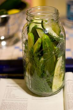 DIY Dill Pickles - Cucumbers on on the list for this year's garden...just so I can make these!