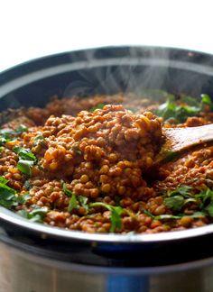 26 Dump Meals for Your Crock Pot - Crockpot red lentil curry.