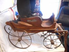 Vintage/Antique Horse Drawn Toy Doll Coach / Carriage