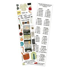 Best Life Ever 2017 Year Text Bookmark, Bible Reading Schedule, JW Gift, Our Christian Life and Ministry, Jehovah's Witnesses, Pioneer Gift