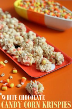 White Chocolate, Candy Corn, Peanut Butter, Peanuts and Marshmallows = AWESOME!
