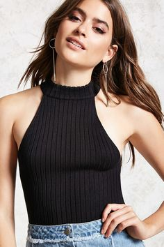 Semi-Cropped Ribbed Top | Forever21