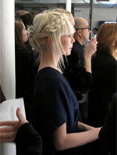 Blonde braid.