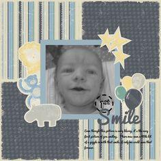 1st Smile ~ Rugged Baby Boy ~ Creative Memories