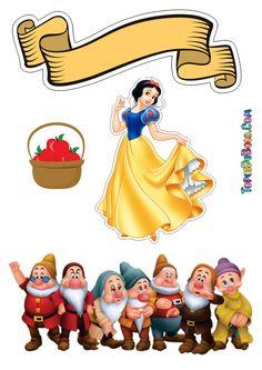 Disney Cake Toppers, Princess Cake Toppers, Princess Cakes, Dream Catcher Vector, Snow White Cake, Baby Animal Drawings, All Disney Princesses, Snow White Birthday, Balloon Cake