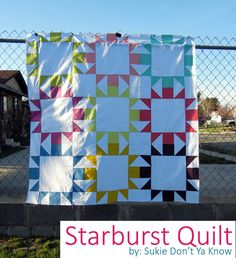 Fat Quarter Gang Tutorial - Starburst Quilt by Sukie dont ya know