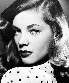 The epitome of glamour: Lauren Bacall.   Here eyebrows, lips, & that hair = perfection. -Brittany, Nordstrom BP. Fashion Board Blogger