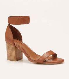 Primary Image of Stacked Ankle Strap Sandals