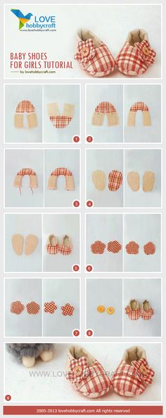 Baby Girl Shoes Tutorial