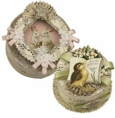 vintage style Easter boxes