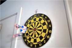 Bullseye! Damage-free fun that is perfect for dorm rooms and rental spaces!