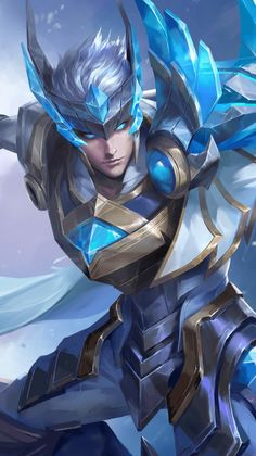 Mobile Legend Wallpaper, Army Wallpaper, Video Game Characters, Fantasy Characters, Miya Mobile Legends, Alucard Mobile Legends, Wolf, Character Wallpaper, Lol League Of Legends