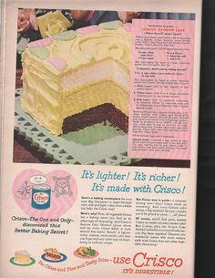 How To Make a Rainbow Birthday Cake - Novelty Birthday Cakes Retro Recipes, Old Recipes, Cookbook Recipes, Vintage Recipes, Cooking Recipes, 1950s Recipes, Cake Recipes, Mousse, Vintage Baking