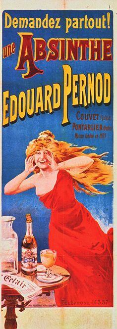 1898-1900  Tamagno  Absinthe Edouard Pernod  163x64 cm