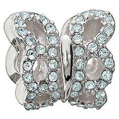 Swarovski Chamilia Blue Butterfly Bead
