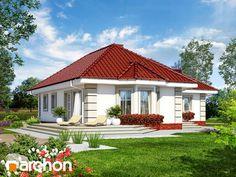 Dom w serdeczniku Bungalow Exterior, Bungalow House Design, One Storey House, Home Fashion, Farmhouse Decor, Gazebo, Living Room Decor, House Plans, Outdoor Structures