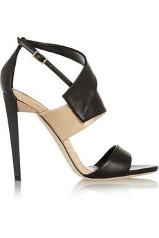 Jimmy Choo Trapeze leather sandals   THE OUTNET