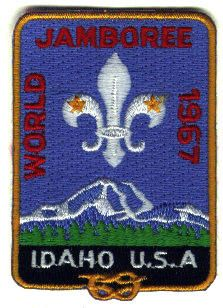 """12th World Scout Jamboree – 1967 Idaho, U.S.A., """"For Friendship"""" 12,011 participants from 105 countries."""
